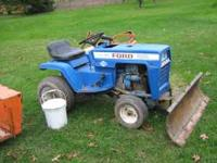 early to mid 70s ford lgt 165 50 inch mower deck  plow