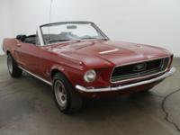 1968 Ford Mustang Convertible V81968 Ford Mustang V8