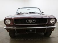 1966 Ford Mustang Convertible 2891966 Ford Mustang