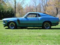 1970 Boss 302 with 48,500 original miles. Paint shows