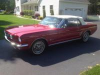 1966 Mustang Convertible. The car has been garage kept