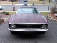 1972 FORD MUSTANG CONVERTIBLE, MAROON WITH BLACK