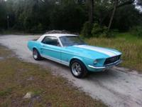THIS IS A 67 FORD MUSTANG COUPE NUMBERS MATCH. IT HAS A