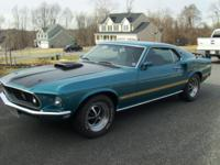 1969 Mach 1 Super Cobra Jet R Code Drag Pack car in