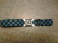 Ford Mustang Seatbelt Buckle Belt Blue & Black