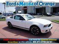 Mustang V6, Ford Certified, 2D Coupe, 3.7L V6 Ti-VCT