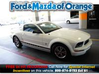 Mustang V6, 2D Coupe, 4.0L V6 SOHC, 5-Speed Automatic,