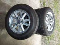 I have for sale a set of 4 stock wheels and tires from