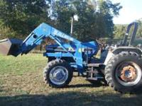 Ford/New Holland 6640 Powerstar SLE tractor with Allied