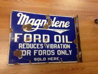 For Sale we have a RARE FORD Oil Magnolene Double Sided