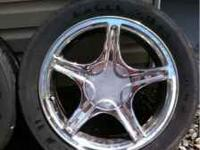 17x9 factory ford racing wheels. Rims are in fair