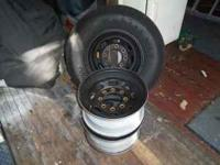 Off 04 F250. 3 rims in great shape. 1 with tire