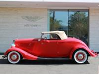 1934 Ford Roadster. 350ci V8 engine, TH350 automatic