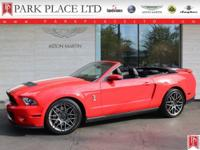 2011 Mustang Shelby GT500 Convertible in Race Red with