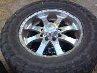 "20""x9 Chrome wheels with 35x1250r20 Toyo MT's 50% rears"