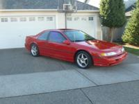 1991 Ford Thunderbird SC. Newer tires have about 2500