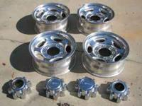 "Factory Aluminum Ford Wheels. Dimensions: 18"" x 8"" w/"