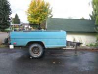 Ford Utility Trailer Made From Long Wide Ford Pick-UP