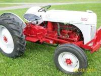 For sale a late model 8N tractor. This tractor has the
