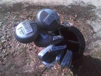 Foremost 451 golf clubs and bag. $35.00  Location: