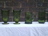 --I have for sale 2 forest green parfait glasses, one