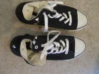 Black Converse-style sneakers from Forever 21 in great
