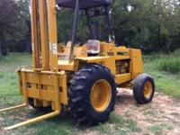 585 c case forklift all terrain diesel runs good nice