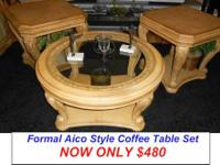 Here is a Stunning Large Round Coffee Table, Two