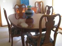 Thomasville Collector Cherry formal dining set is a