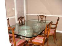 Formal dining room table with 6 chairs. Retail value