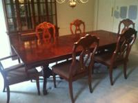 "Conventional dining room set. Dining-room table 92""x"