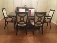 Beautiful slightly used 6 chair formal wood dining room