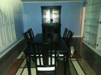 Formal Dining Table, Dark Wood with 4 padded chairs, 2