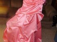 Handmade Peachy/pink-colored Bridesmaid's dress. Size