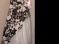 I have a beautiful black and white floral gown that I