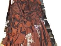 Gorgeous iridescent chocolate colored formal round gown