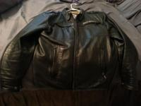 Female Harley leather jacket, gloves, leather scarf,