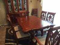 Extremely elegant real wood formal dining room set that