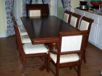 Formal Dining Room table in excellent condition. Call