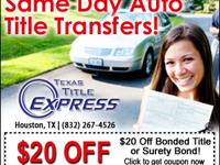 Live in Fort Bend County and Need a Auto Title