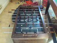 VERY NICE SOLID WOOD HARVARD FOSEBALL TABLE. FOR SALE.
