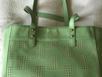 Fossil Audri Shopper WINTER GREEN NWT. Man made