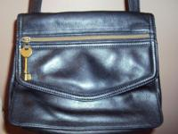 Genuine slightly used Fossil womens bag. Black with
