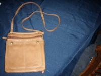 Gorgeous Fossil purse. Leather and canvas patchwork