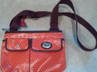 NEW Orange shoulder strap purse 50 obo Serious