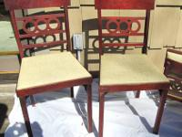 "Four 1950's vintage ""Leg-O-Matic"" folding chairs. Made"