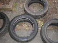 here i have 4 used 205-55-16 tires for sale . they