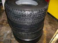 Four 245-75-16 tires in good shape $125.  Location: