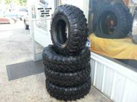 I am offering 4 36x13.50-17 Super Swamper Irok tires.