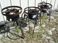 FOUR- FISH , PEANUT , OR CORN COOKERS. BURNERS ONLY,